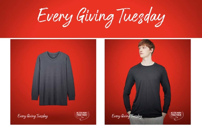 """""""Every Giving Tuesday"""" campaign by Uniclo 1"""