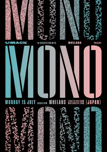 Mono at Whelan's gig poster for U:mack