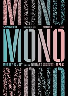 Mono at Whelan's gig poster for U:mack