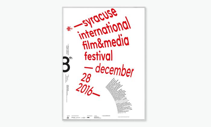 Syracuse International Film & Media Festival 2016 poster 3