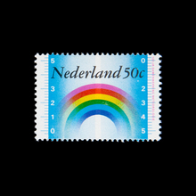 Stamp on the occasion of 100 years of international meteorological cooperation