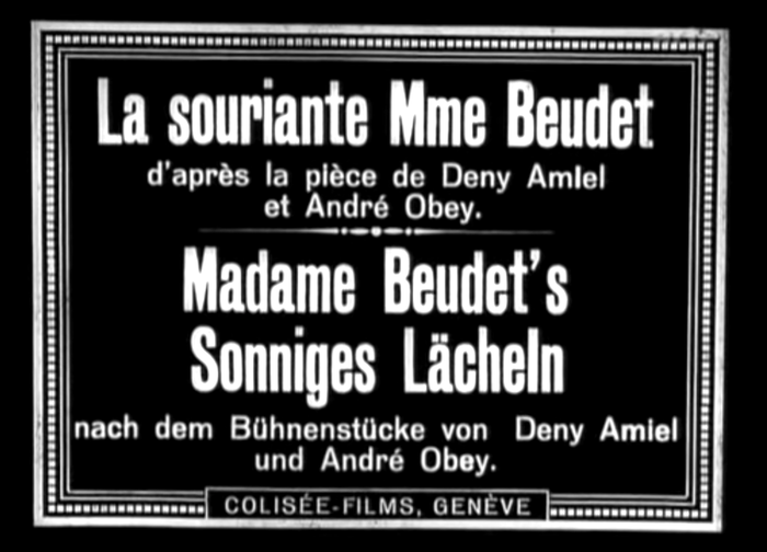 La souriante Madame Beudet (1923) film titles and poster 1