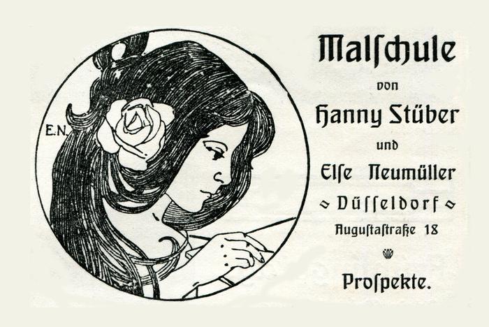 Malschule von Hanny Stüber und Else Neumüller ad (1906)