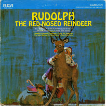 <cite>Rudolph The Red-Nosed Reindeer</cite> album art