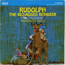 <cite>Rudolph The Red-Nosed Reindeer</cite> album art