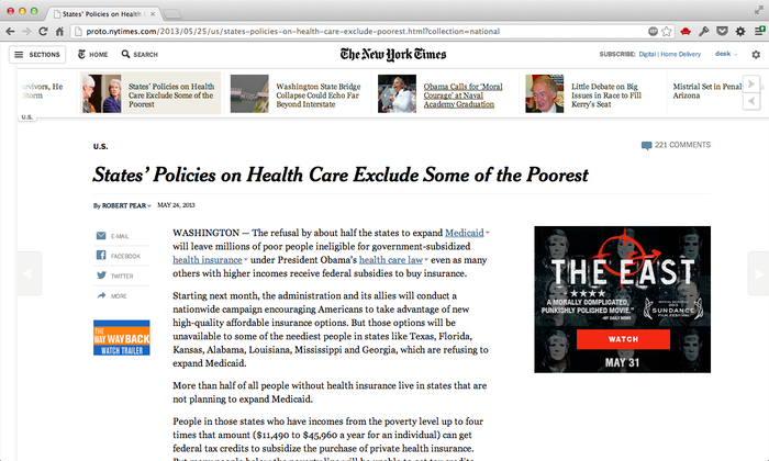 The New York Times Article Redesign (May 2013) 3