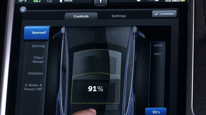 2013 Tesla Model S Dashboard Display 7