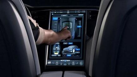 2013 Tesla Model S Dashboard Display
