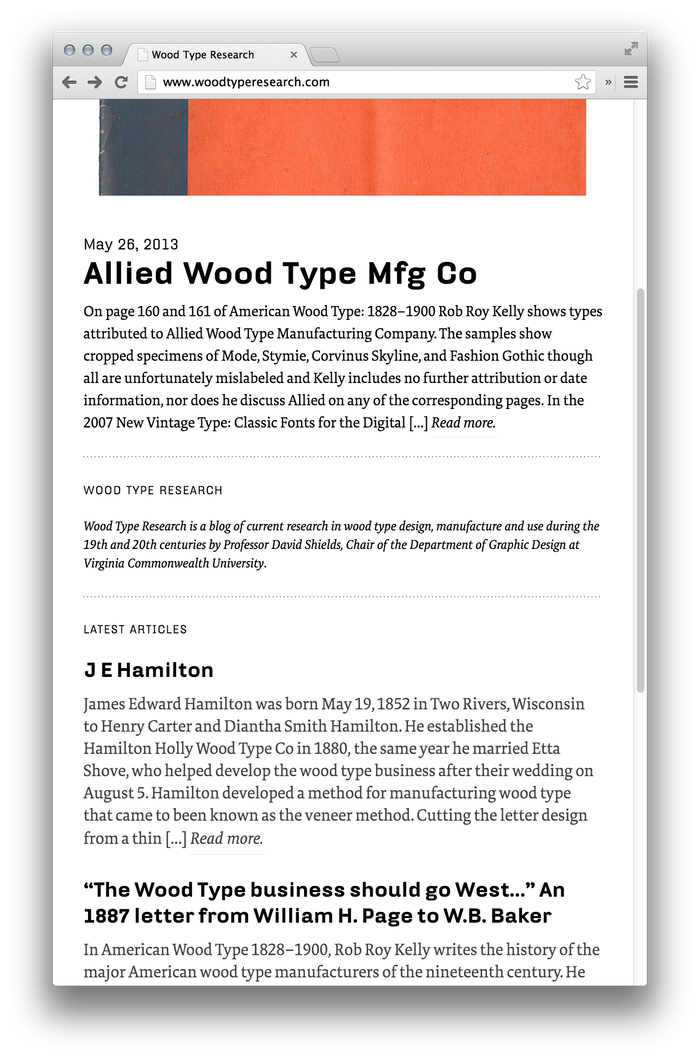Wood Type Research 1