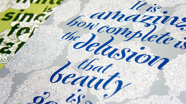 Hand-drawn posters featuring FontFonts 2