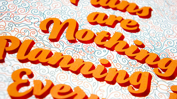 Hand-drawn posters featuring FontFonts 4