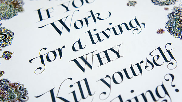 Hand-drawn posters featuring FontFonts 5