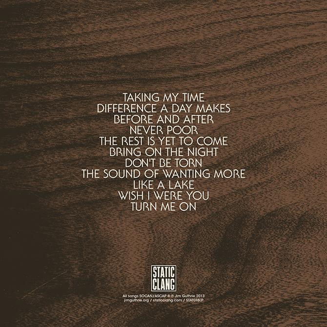 Jim Guthrie – Takes Time album art 5