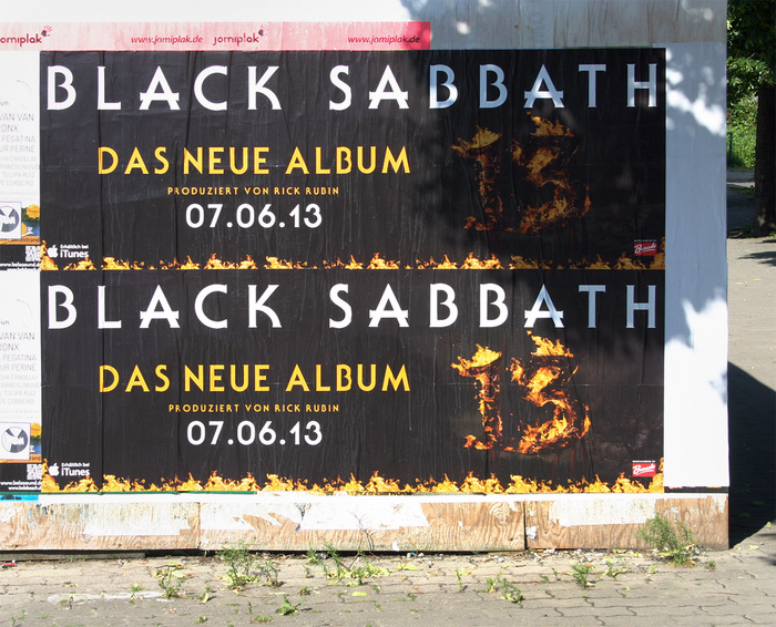Posters advertising the new release in Berlin, Germany