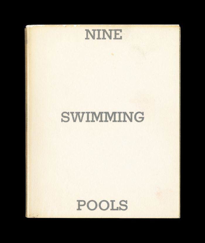 Nine Swimming Pools and a Broken Glass by Edward Ruscha, 1968. 1