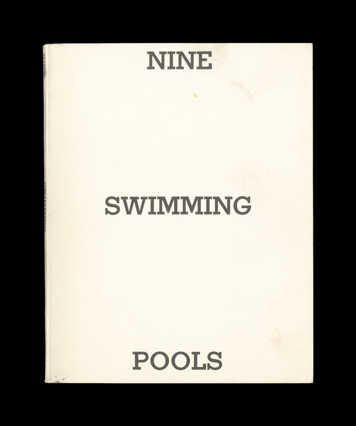 Nine Swimming Pools and a Broken Glass by Edward Ruscha, 1968. 2
