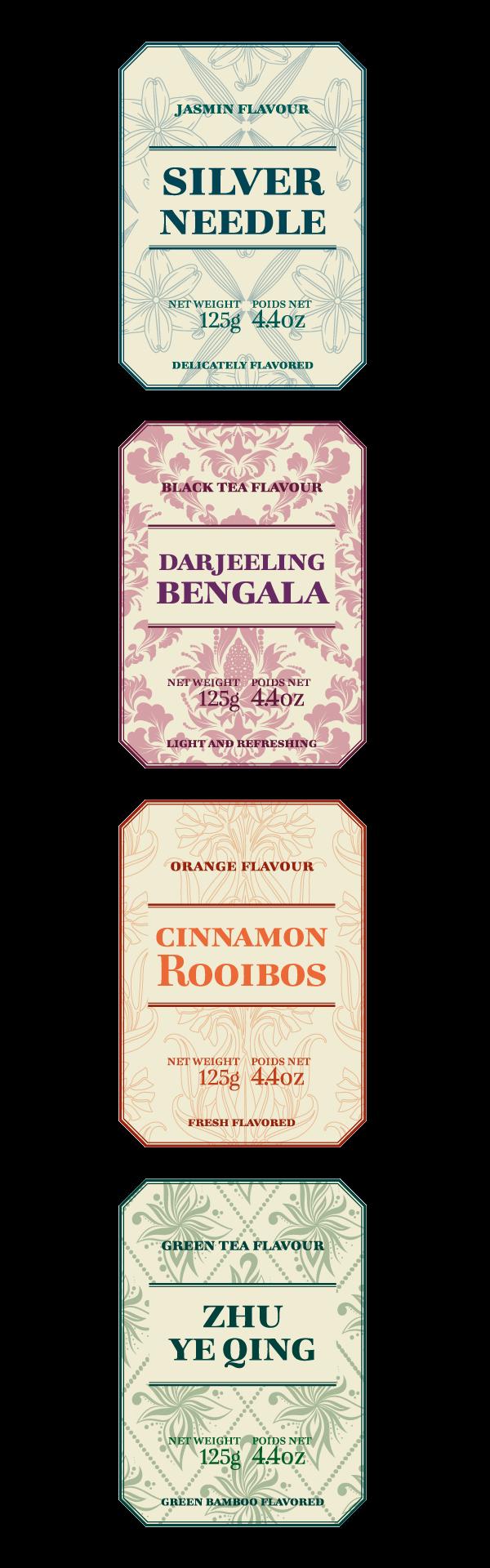 Bohemia tea labels 5