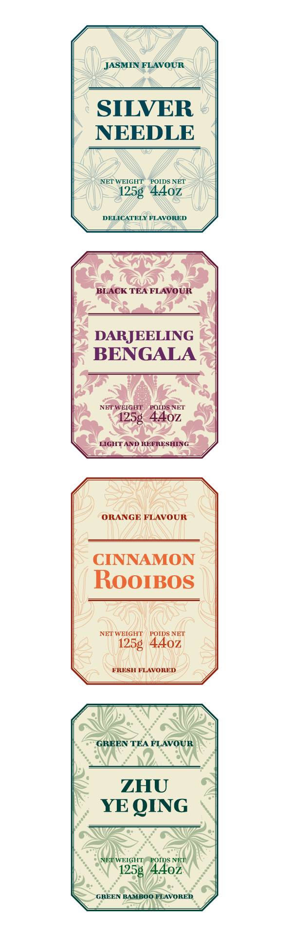 Bohemia tea labels 5