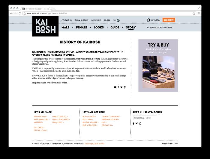 Kaibosh website 4