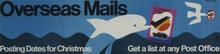 <cite>Overseas Mails</cite> Advertising