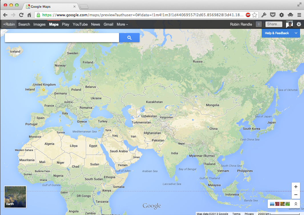 Google Maps (2013 Update) - Fonts In Use