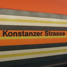 Konstanzer Straße subway station Berlin