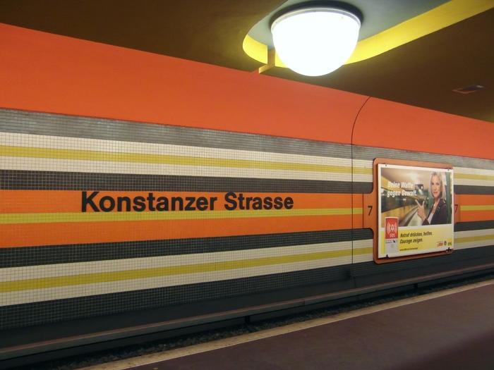 Konstanzer Straße subway station Berlin