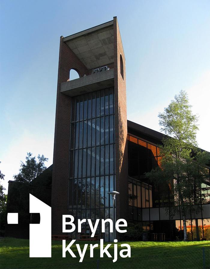 The logo is derived from the architecture (the tower) of Bryne Church. The colours are inspired by the nuances in the masonry which forms the façade.