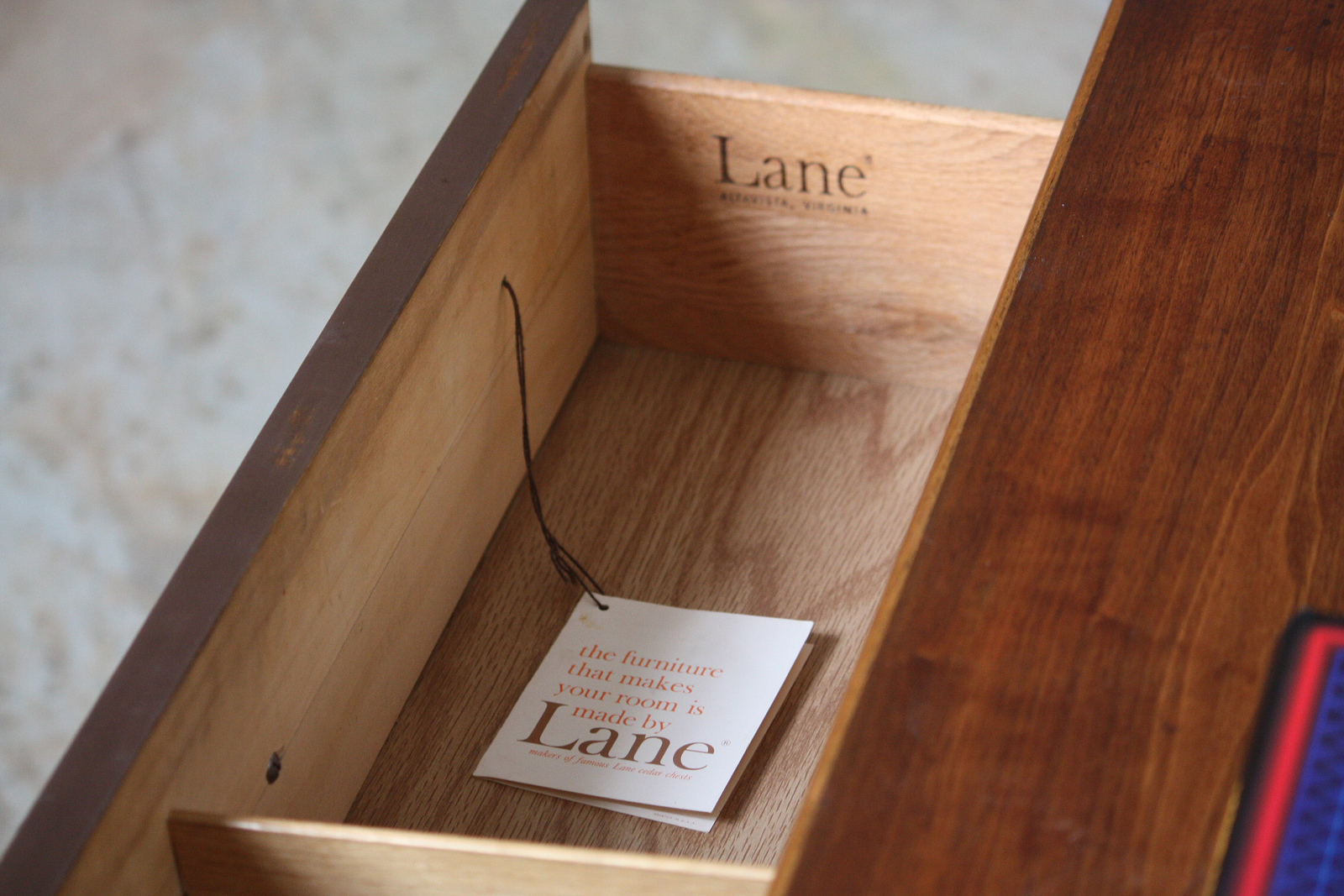Lane Furniture 1960s Branding Fonts In Use