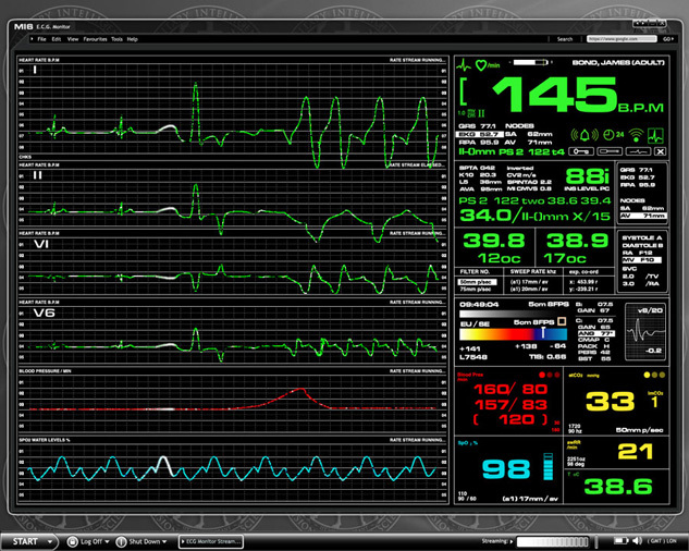 Fictional Medical Device UI for Casino Royale (2006) 2