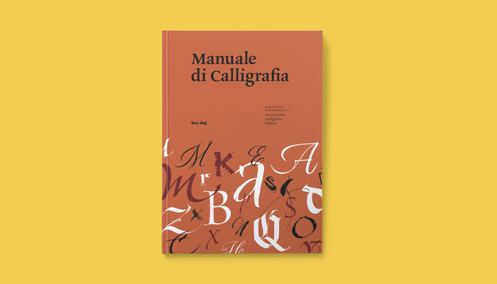 The cover shows letters from Italian calligraphy masters.