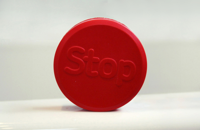 Squishy stress-reliever from the Stoptober supplies pack