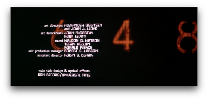 Colossus: The Forbin Project (1970) titles 7