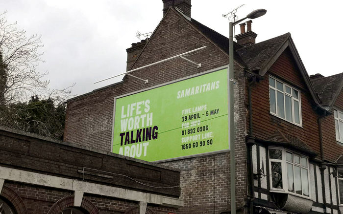 Samaritans 'Life's Worth Talking About' campaign in Dublin