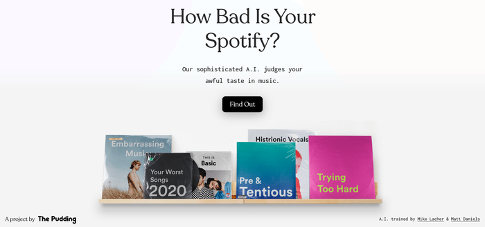How Bad Is Your Spotify? website 1