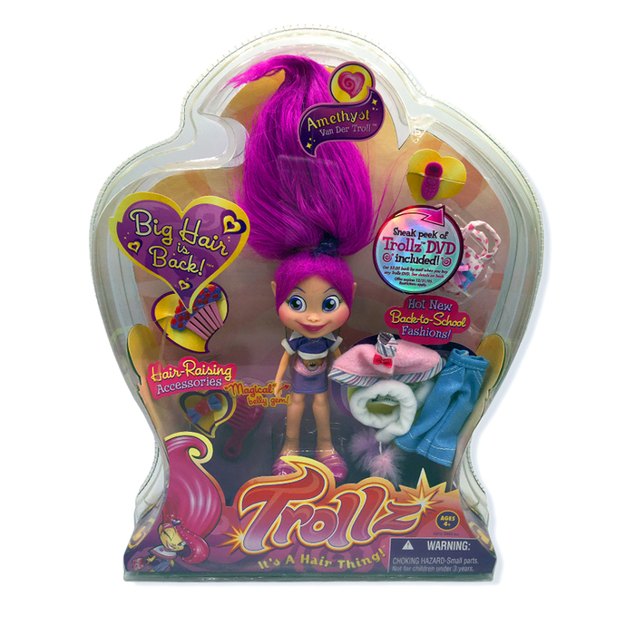 A range of Trollz merchandise was produced — including dolls, play sets, and books