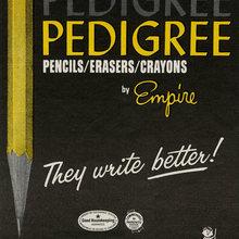 Pedigree Pencils ad (1966)