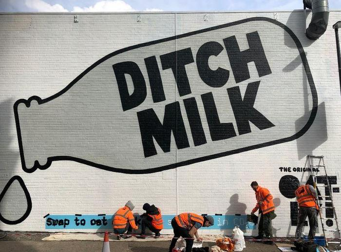 "Oatly ""Ditch Milk"" mural ad 2"