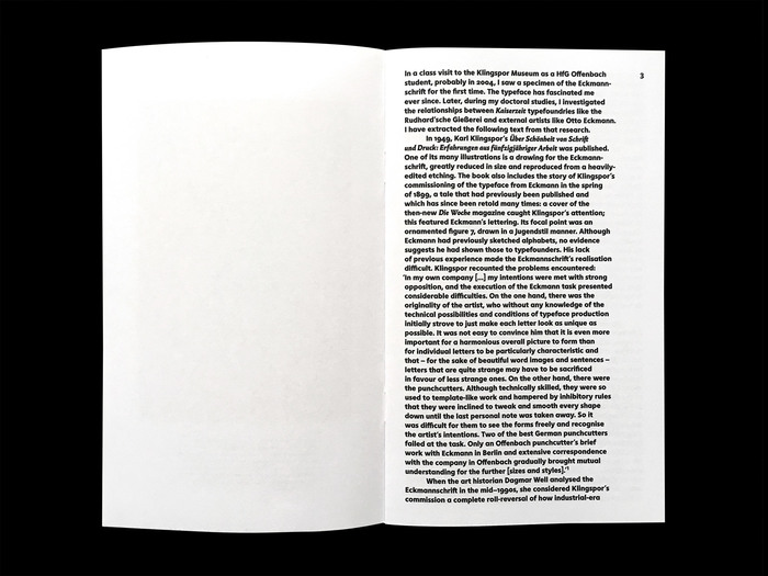 Louis Hoell and the making of the Eckmannschrift, Poem Pamphlet No. 4 2