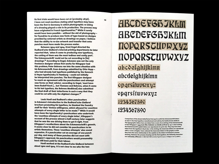 Louis Hoell and the making of the Eckmannschrift, Poem Pamphlet No. 4 4