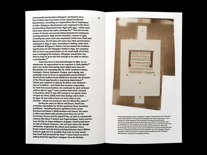 Louis Hoell and the making of the Eckmannschrift, Poem Pamphlet No. 4 5