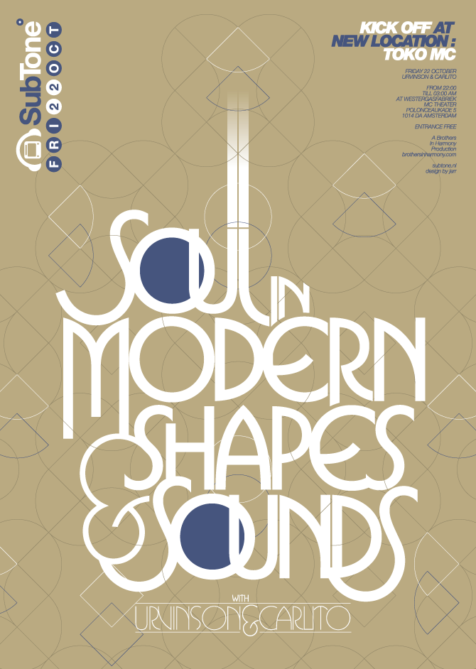 """""""Soul in Modern Shapes & Sounds"""" poster for SubTone"""