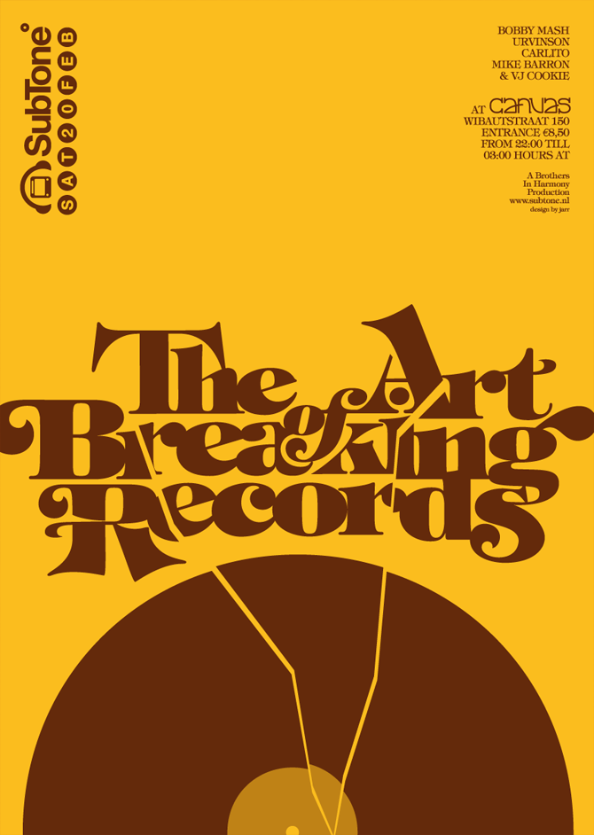"""The Art of Breaking Records"" poster for SubTone"