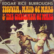 <cite>Thuvia, Maid of Mars &amp; The Chessmen of Mars</cite> by Edgar Rice Burroughs (Doubleday, 1972)