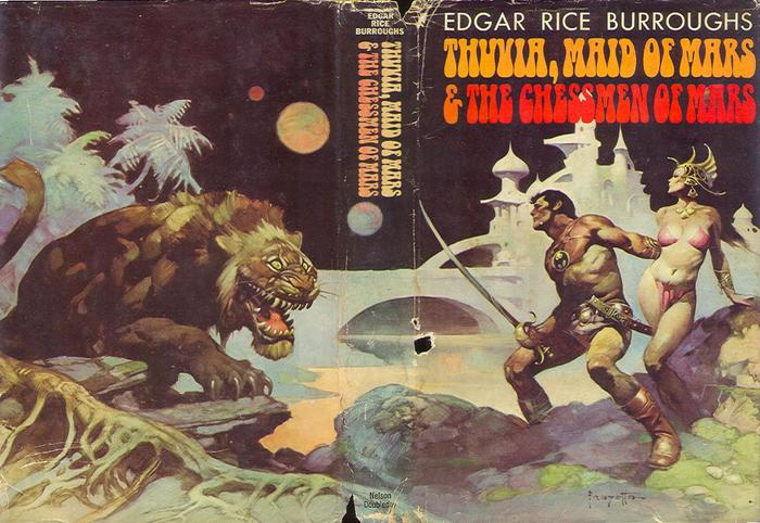 Thuvia, Maid of Mars & The Chessmen of Mars by Edgar Rice Burroughs (Doubleday, 1972) 2