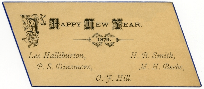 """A Happy New Year. 1879."""