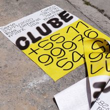 CLUBE exhibition poster and card