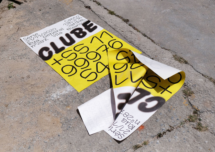 CLUBE exhibition posters.