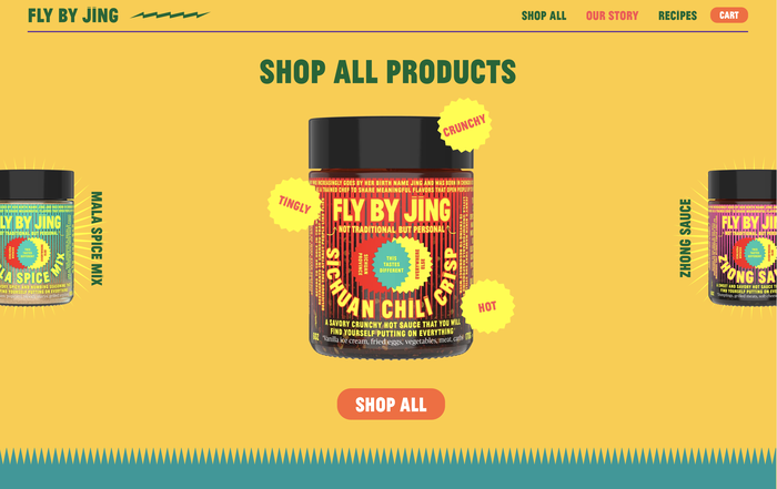 Fly by Jing packaging and website 3