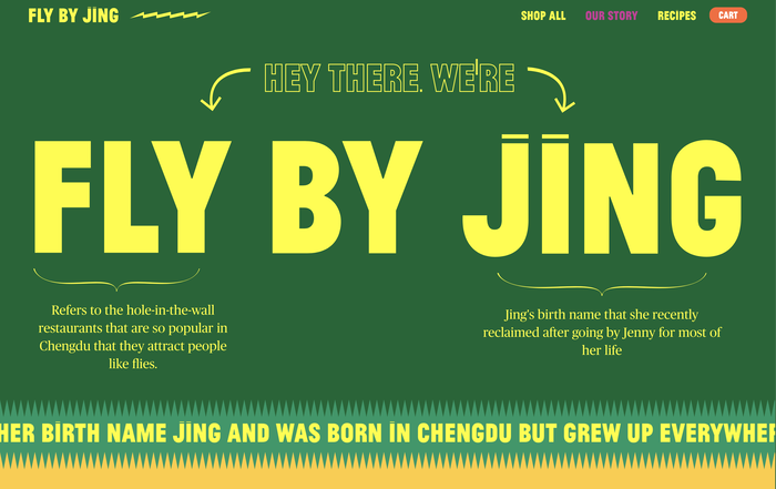 Fly by Jing packaging and website 5
